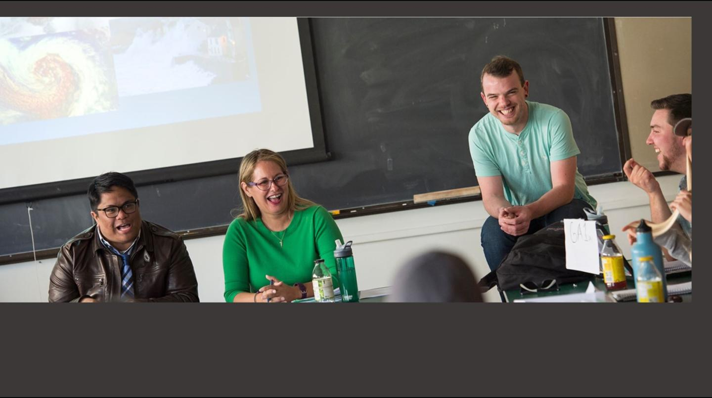 Faculty and students in the classroom