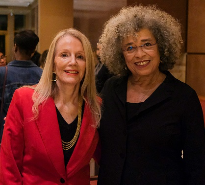 Andrea Neves with Angela Davis on March 3, 2020