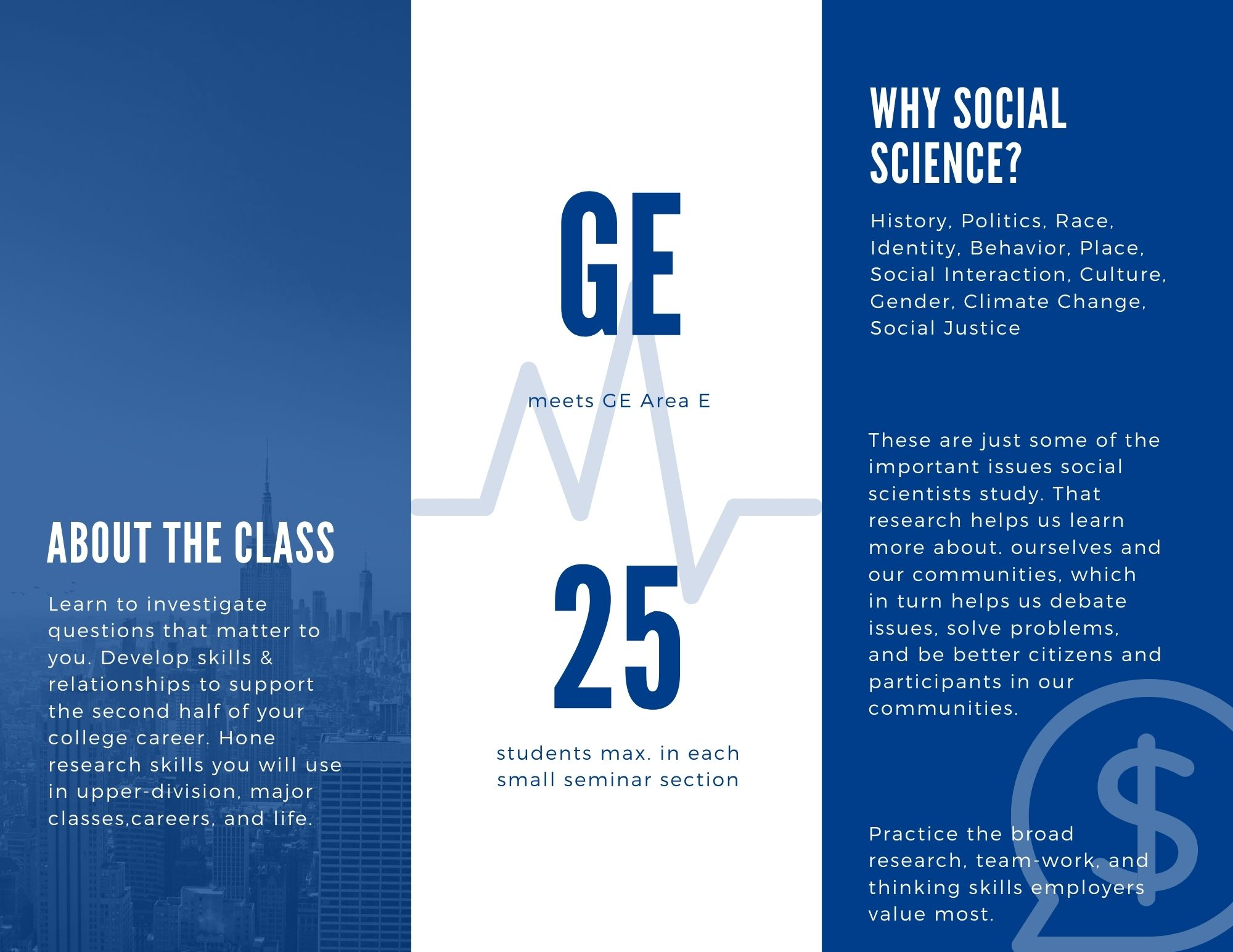 SSCI 299 Thinking Like a Social Scientist flyer